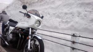 結構圧巻ですぜ、雪の壁