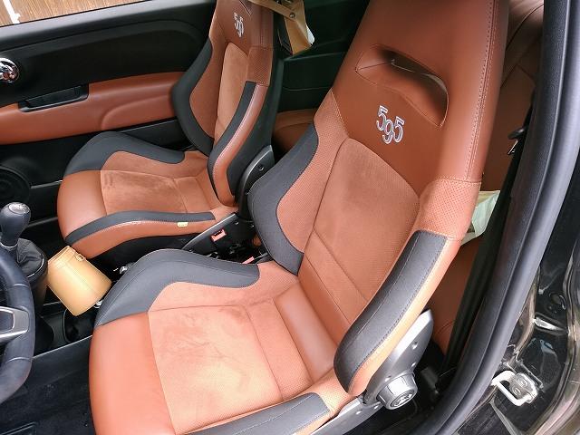 アバルト595コンペの超固いシートでも寝る。