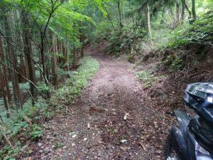 こんなところの先にある。舗装路から7.5kmほど登ったところ。