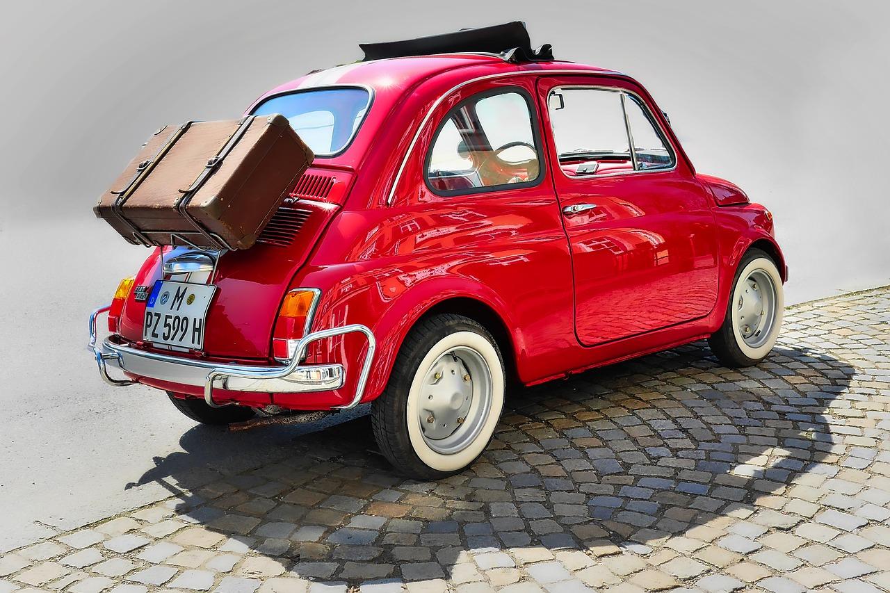 旧Fiat500。ヒーターに苦労している車の一つ