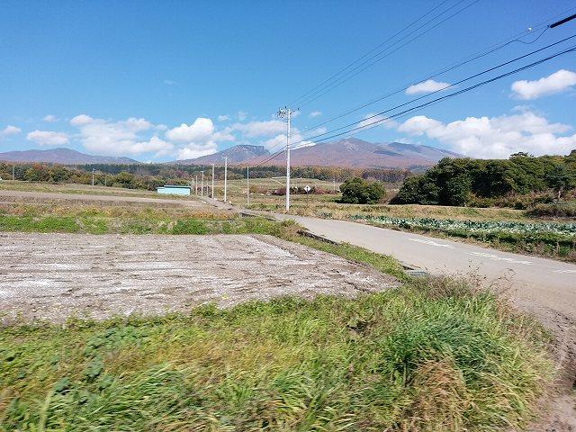 遠くに浅間山(往路)