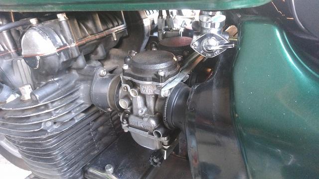 CVKキャブをZ1系エンジンに流用するとチョークはひと工夫必要なのだった