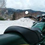 Z750D1。これは春先ですが雪が残ってる高原は超寒い。