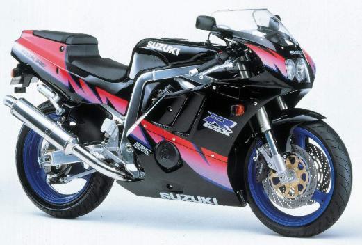 GSX-R400。このカラーリングとかひどくね?バイク自体はカッコイイのに。