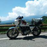 九蔵峠の展望エリアから。雲の下は御嶽山