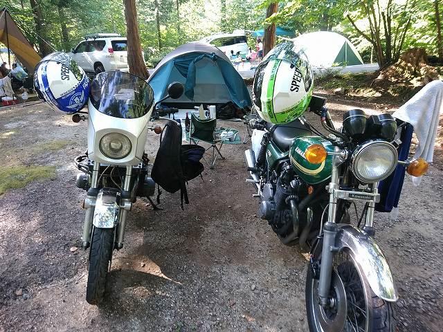 夏はキャンプツーリングに行きたい。