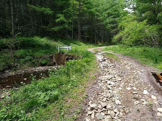 林道なんてのはこんなとこばっかしですよ。