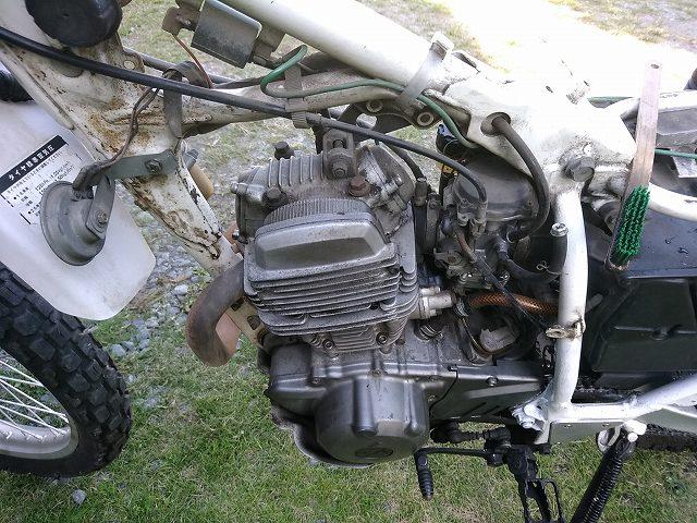 セロー225の空冷エンジン