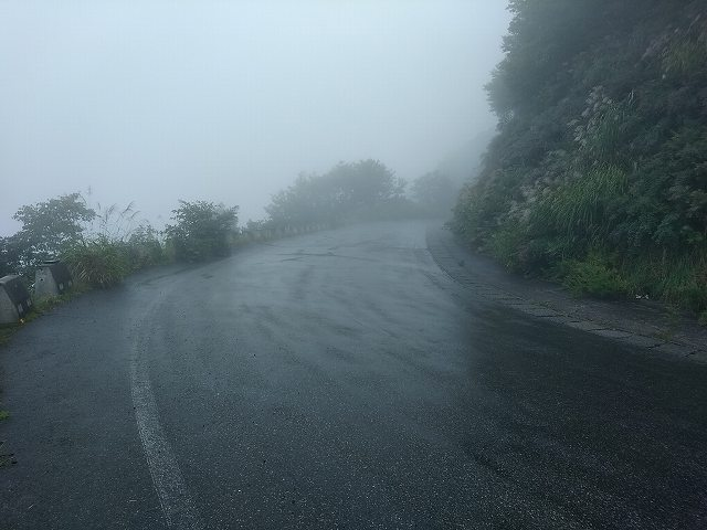 雨天時はほとんど雲の中ですわ