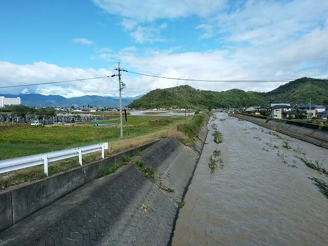 この川があふれ出た川の一つ