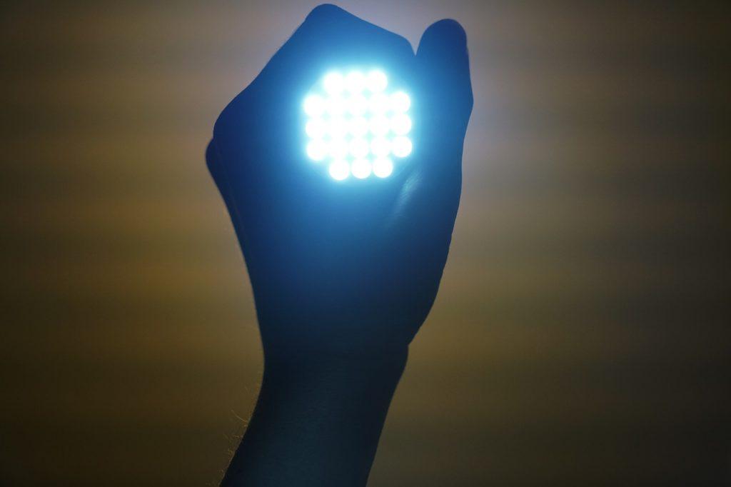 こんな光源が複数ある状態ですよ