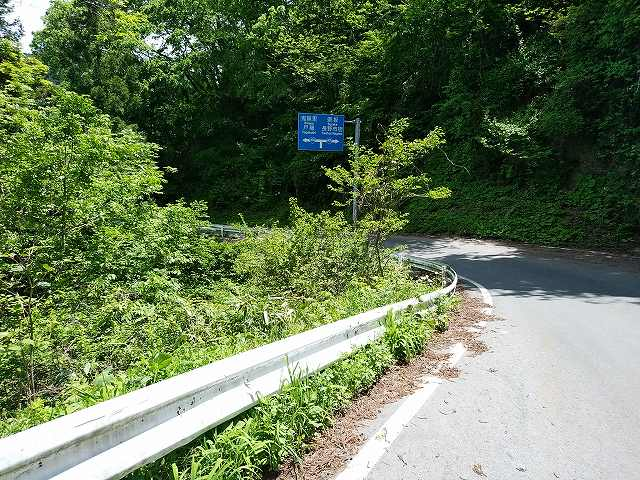 意外にも県道なので青看板の案内は結構ある。