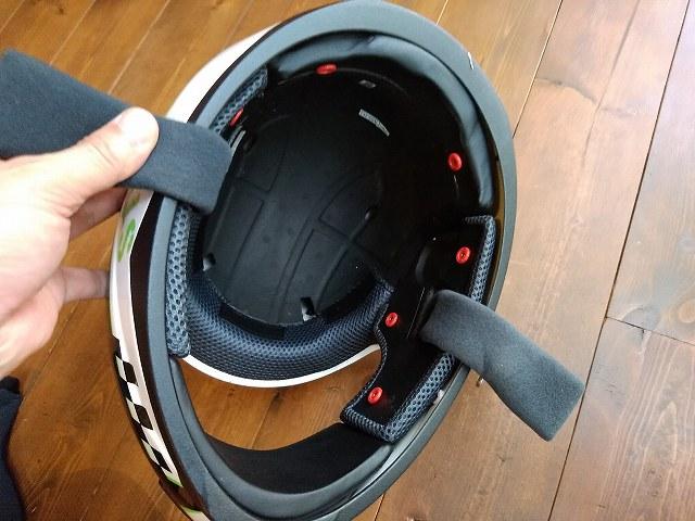 SPEED&STRENGTHのヘルメットは内装はここまで外せます。