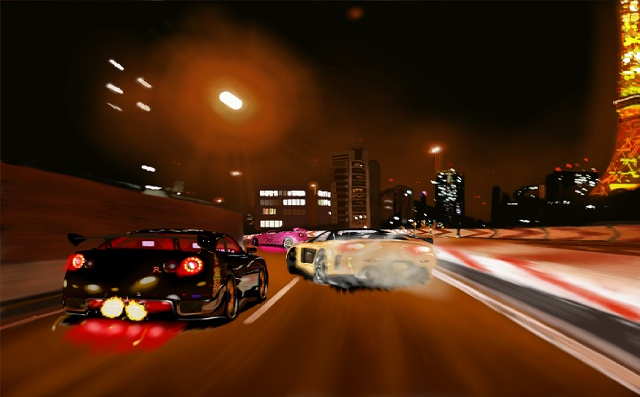 首都高バトルのゲームでは昔の車が現役。