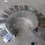 パトングメッシュでエアフィルターのフレームを作ります。