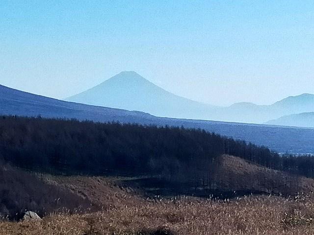 ビーナスラインから富士山見えると得した気分になりますな。