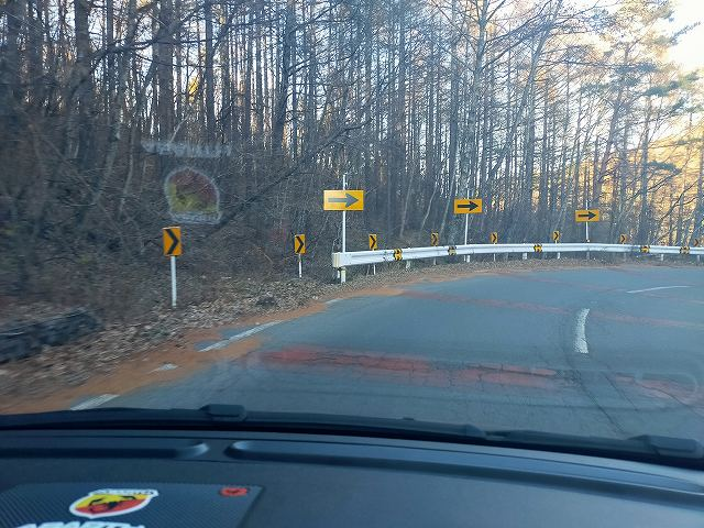 県道40から県道152に入ると急激に標高が下がります。