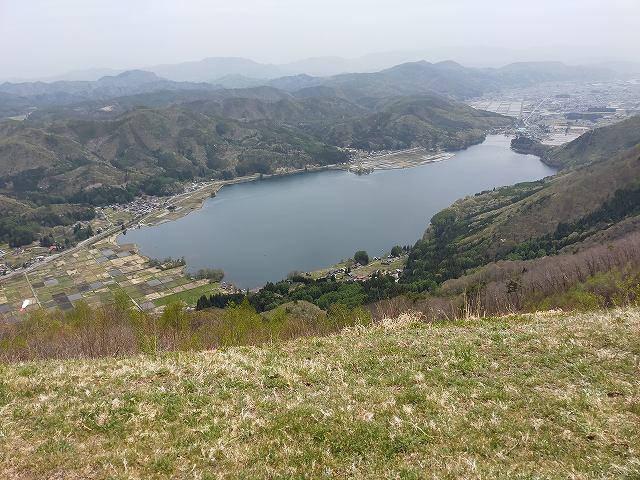 離陸する崖ギリギリからの眺め。