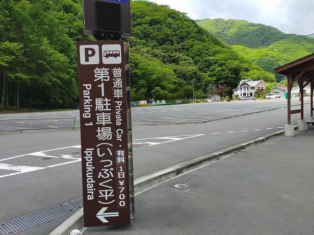 丸ごと大駐車場が休業。
