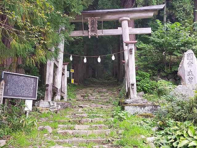 小菅神社の鳥居をくぐるのに覚悟がいるのだ。