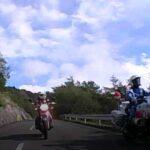 バイク用ドラレコの後方カメラにて。